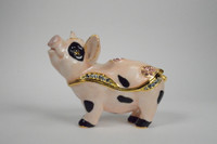 Porky Pig Jewelry Box with Necklace