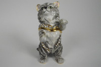 Earl Grey Cat Jewelry Box with Necklace