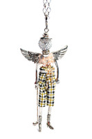 GOLFER ANGEL NECKLACE, BROOCH, KEYCHAIN
