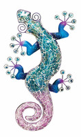 Mosaic Gecko Wall Decor - Blue 20""