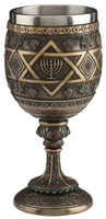 Star Of David Menorah Chalice