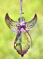 Purple Angel Ornaments