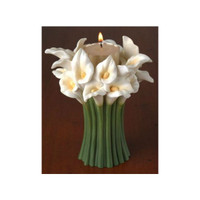 Calla Lily Tea Light Bouquet