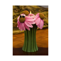 Coneflower and Bee Tea Light Bouquet