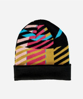 Youth Pattern Beanie with Cuff (5-7 Years)
