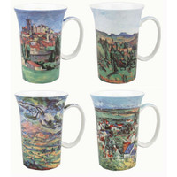 Cezanne set of 4 Artisanal Fine China Mugs