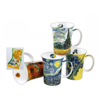 Van Gogh set of 4 Artisanal Fine China Mugs