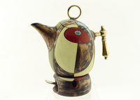 Short Green Tea or Coffee Pot (With Tealight Holder)