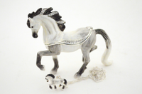 Anto Andalusia Horse Jewelry Box with Necklace