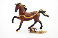 Arabian Horse Jewelry Box with Necklace