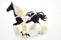 Vanner Horse Jewelry Box with Necklace