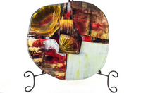 Red Single Dish Shell Cheese Platter