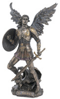 St. Michael Standing on a Demon with a Sword and Shield