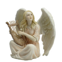 Angel Sitting and Playing a Lyre
