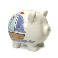 Large Nautical Piggy Bank