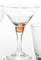 Acrylic Rainbow Reflections Martini Glass