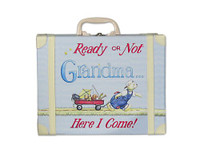 Going to Grandma's Suitcase - blue