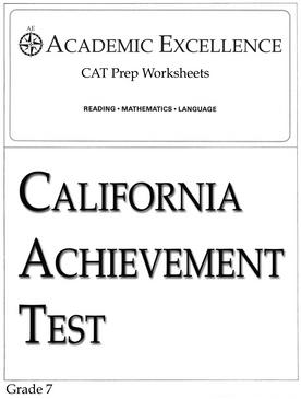CAT Prep Pack: Grade 7 - PDF Download