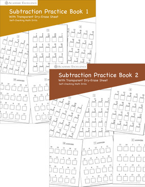 Subtraction Practice Book Bundle