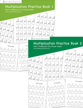 Multiplication Practice Book Bundle