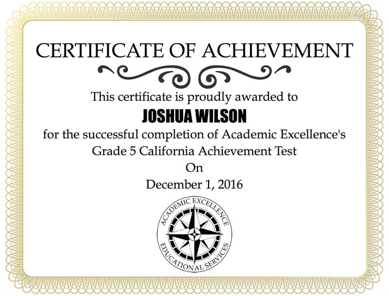 dark blue and cream leaves academic achievement certificate