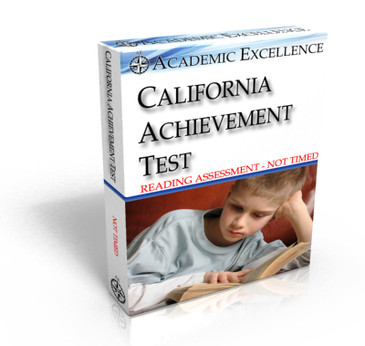 ONLINE California Achievement Test: Reading Only, NOT TIMED