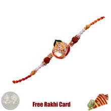 Traditional Om Rakhi with Free Silver Coin