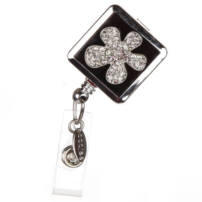 Pansy Flower Badge Reel