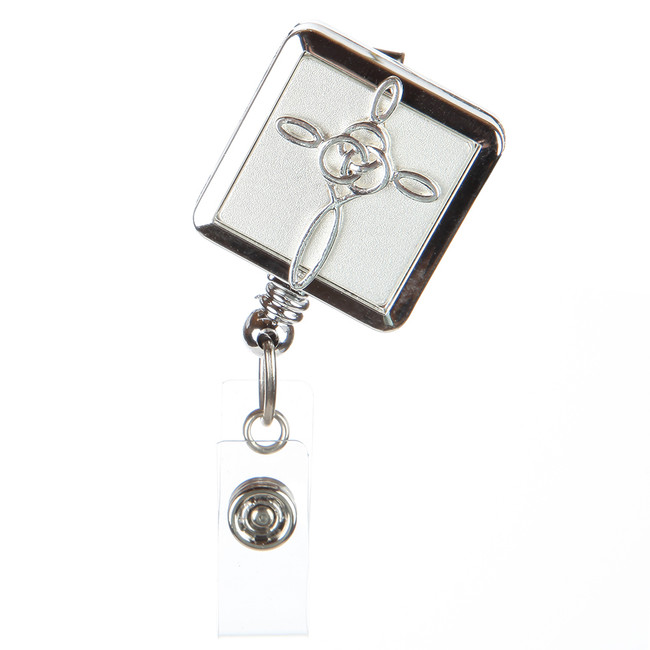 French Cross Badge Reel