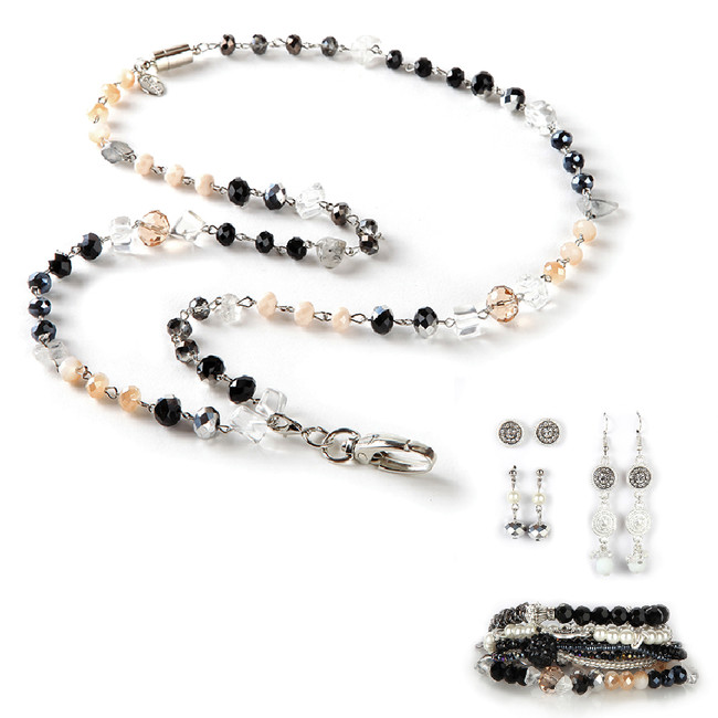 Dawn Fashion Lanyard with Earrings & Bracelets, 8 pc set