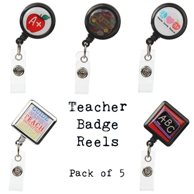 Teacher Badge Reels Multipack