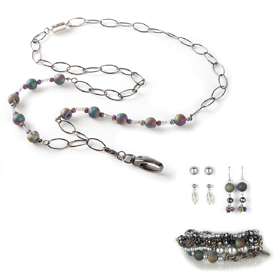 Celtic Fashion Lanyard with Earrings & Bracelets, 8 pc set