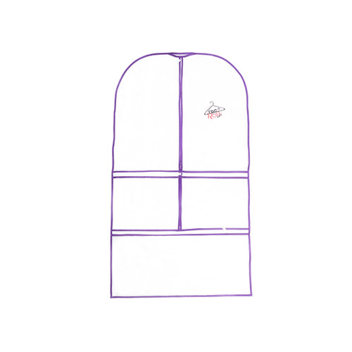Clear Front Purple Garment Bag