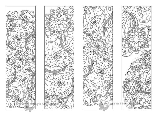 4 Printable Mandala Coloring Bookmarks 18 1 Tong S Art