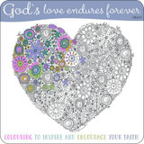 Adult Coloring Book: God's Love Endures Forever: Inspirational Colouring Book cover photo