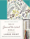 NKJV, Journal the Word Bible, Large Print: Reflect, Journal, or Create Art Next to Your Favorite Verses cover photo