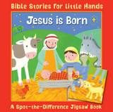 Jesus is Born: A Spot-the-Difference Jigsaw Book cover photo