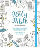 NIV Journalling Bible for Colouring in: With Unlined Margins and Illustrations to Colour in cover photo