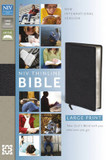 NIV Thinline Large Print Leather Bible cover photo