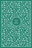 KJV, Thinline Bible, Large Print, Cloth Over Board, Green, Red Letter Edition cover photo