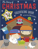 The Story of Christmas Colouring Book (With Over 100 Stickers) cover photo
