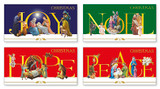 Christmas Wishes Box/12 Gold Stamped Cards [5034951938308]