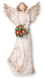 6 1/2 Resin Angel with Christmas Wreath cover photo