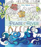Adult Coloring Journal: Peace Like a River: 24 Inspiring Illustrations & Scripture Quotes Throughout cover photo