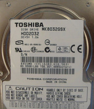 "10 pc. lot Toshiba MK8032GSX 2.5"" 80gb 5400rpm Sata (DOD tested & Wiped)"