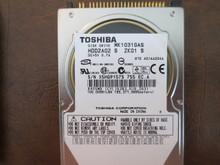 Toshiba MK1031GAS HDD2A02 S ZK01 S 610 A0/AA204A 100gb IDE/ATA