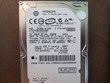 Hitachi HTS545025B9SA02 PN:0A78252 MLC:DA3350 Apple#655-1538D 250gb Sata (Donor for Parts) IX120APQHDDWKA (T)