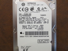 Hitachi HTS725050A9A362 PN:0A73385 MLC:DA3526 Apple#655-1589A 500gb Sata