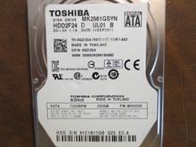 Toshiba MK2561GSYN HDD2F24 D UL01 B FW:MH000D 250gb Sata