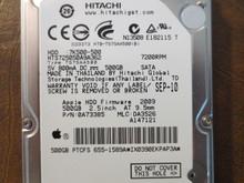 Hitachi HTS725050A9A362 PN:0A73385 MLC:DA3526 Apple#655-1589A 500gb Sata (Donor for Parts)